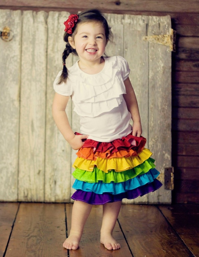 with-white Gorgeous Rainbow Kids Clothing