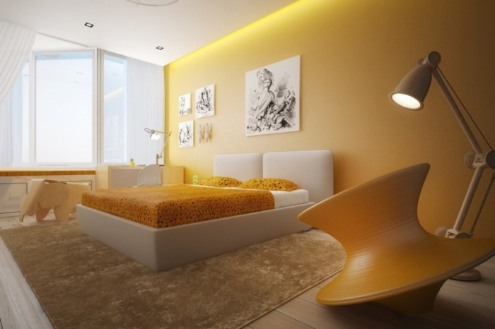 yellow-white-bedroom-color-scheme Discover the 10 Uncoming Furniture Trends