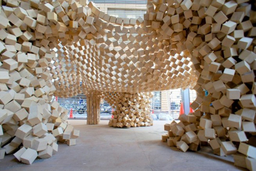01-view-inside 24 Amazing Wooden Installations Art
