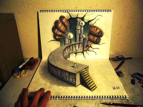 12 Top 25 Incredibly Realistic 3D Drawings