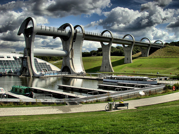 14.-The-Falkirk-Wheel 18 Most Unique Bridges Of The World