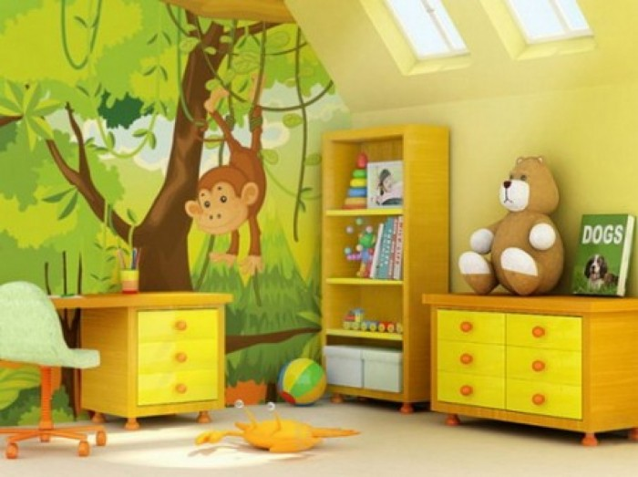 1458-kids-bedroom-design-planning-zoo-wallpaper-kids-bedroom-decoration_1280x720 Create A Colorful Atmosphere In Your Kids Room By Wallpaper