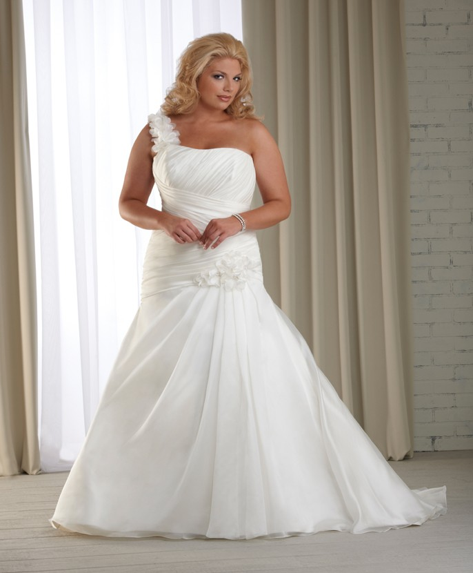 2013_One_Shoulder_Plus_Size_Modest_Wedding_Dress__original_img_13641956435069_2044_ Tips To Choose The Perfect Plus Size Bridal Dress...