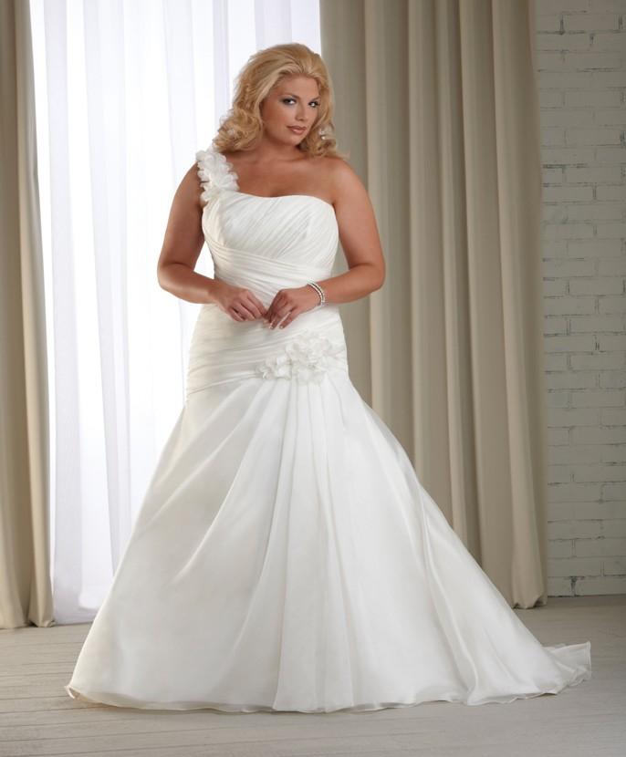 2013_One_Shoulder_Plus_Size_Modest_Wedding_Dress__original_img_13641956435069_2044_ Tips To Choose The Perfect Plus Size Bridal Dress...