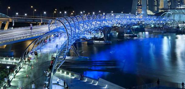 25.-Helix-Bridge 18 Most Unique Bridges Of The World