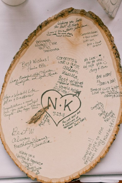 35-non-traditional-and-creative-wedding-guest-book-ideas-32-500x750 Unique And Creative Guest Book Ideas For Your Wedding Day