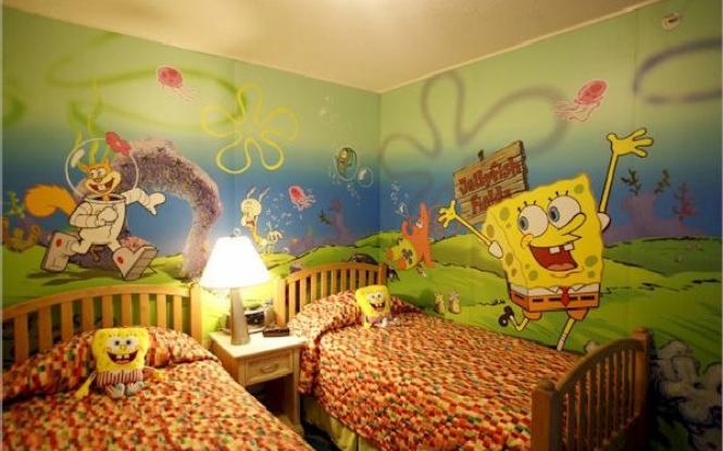 4701-wallpaper-kids-bedroom-spongebob-wallpaper-for-boy_665x415 Create A Colorful Atmosphere In Your Kids Room By Wallpaper