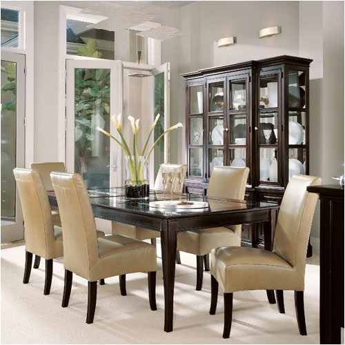 51k93wvnt6l._stanley_20furniture_20370_20glass_20top_20table_20series_20american_20modern_20glass_20top_20table_20with_20leather_20side_20chai_ 28 Elegant Designs For Your Dining Room