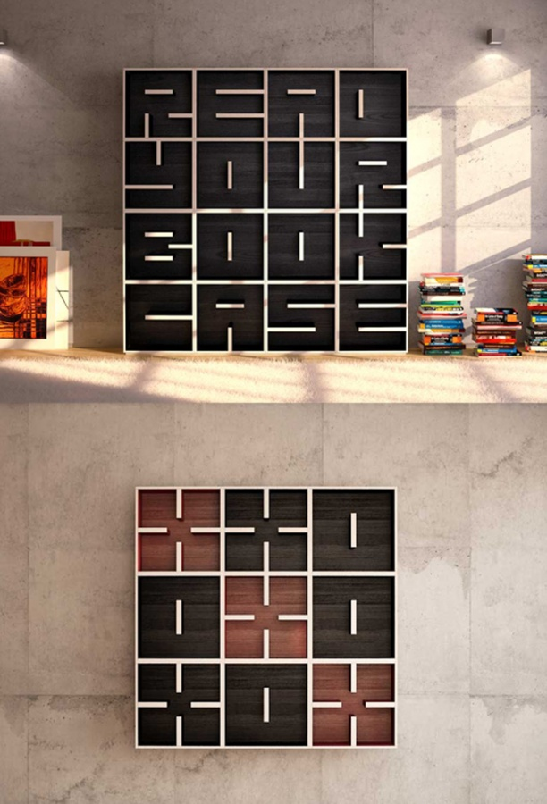 ABCbookcase1 40 Unusual and Creative Bookcases