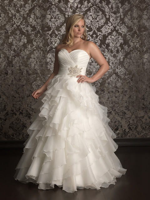 Allure-Women-Spring-2013-Bridal-Collection-3 Tips To Choose The Perfect Plus Size Bridal Dress...