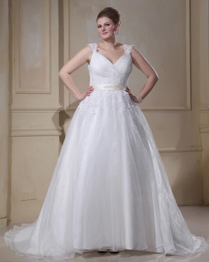 Applique_Beading_Yarn_V_Neck_Court_Plus_Size_Bridal_Gown_Wedding_Dress_original_img_13593603677552_328_ Tips To Choose The Perfect Plus Size Bridal Dress...