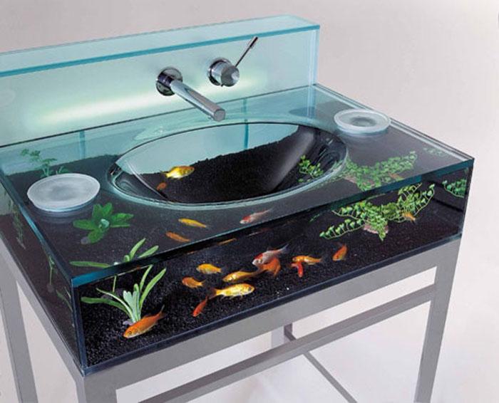 Aquarium-Sink-for-Bathroom 40 Catchy and Dazzling Bathroom Sinks