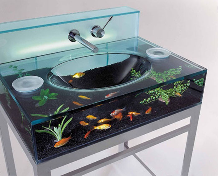 Aquarium-Sink-for-Bathroom 40 Catchy and Dazzling Bathroom Sinks