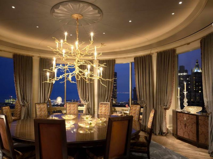 Asian-Inspired-Dining-Room-Furniture-With-Decorative-Candles 45 Most Stylish and Contemporary Dining rooms