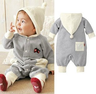 Baby-coveralls-Spring-new-Romper-Cotton-baby-clothes-hooded-Newborn-clothing-kid-product-romper-with-hat Top 41 Styles Of Clothing For Newborn Babies