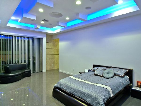 Bedroom-Ceiling-Lighting-Design-at-Contemporary-and-Luxury-Tenaya-Residence-in-Las-Vegas-Design-by-DesignCell1 Fantastic Ceiling Designs For Your Home