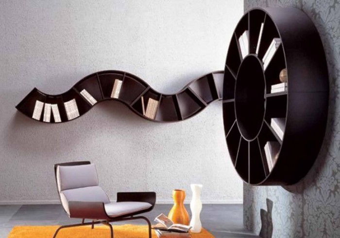Bookshelves-Interior-Home-Design 40 Unusual and Creative Bookcases