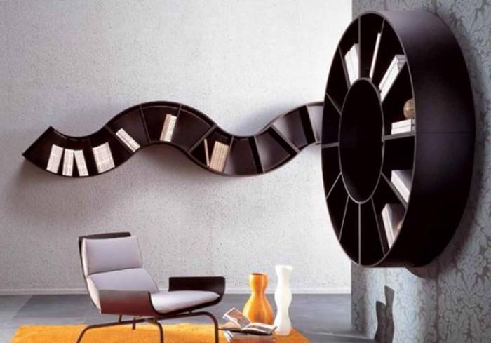 Bookshelves-Interior-Home-Design 40 Unusual and Creative Bookcases