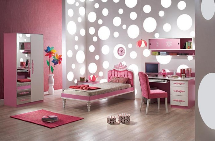 Cool-Ideas-For-Pink-Girls-Bedrooms2 Modern Ideas Of Room Designs For Teenage Girls
