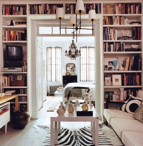 Creative-Ideas-Bookshelf-Design-at-Living-Room 26 Of The Most Creative Bookshelves Designs