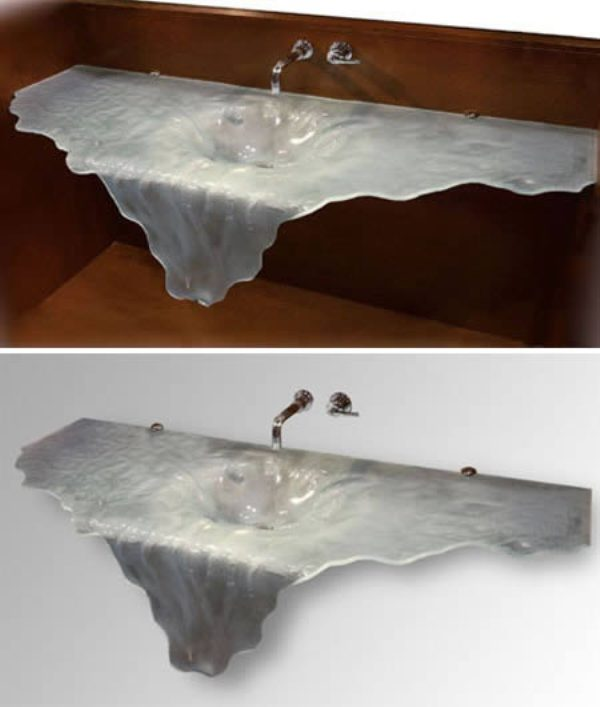 Creative-sinks_photo2_wonderstoday_com 40 Catchy and Dazzling Bathroom Sinks