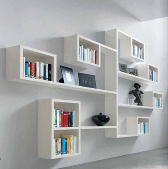 Decorative-wall-shelves-ideas 26 Of The Most Creative Bookshelves Designs