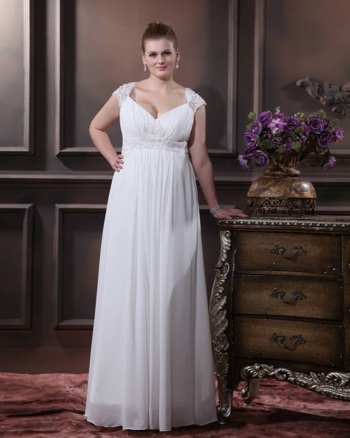 Elegant_Sweetheart_Floor-length_Chiffon__Satin_Plus_Size_Wedding_Dress6__42927_zoom Tips To Choose The Perfect Plus Size Bridal Dress...
