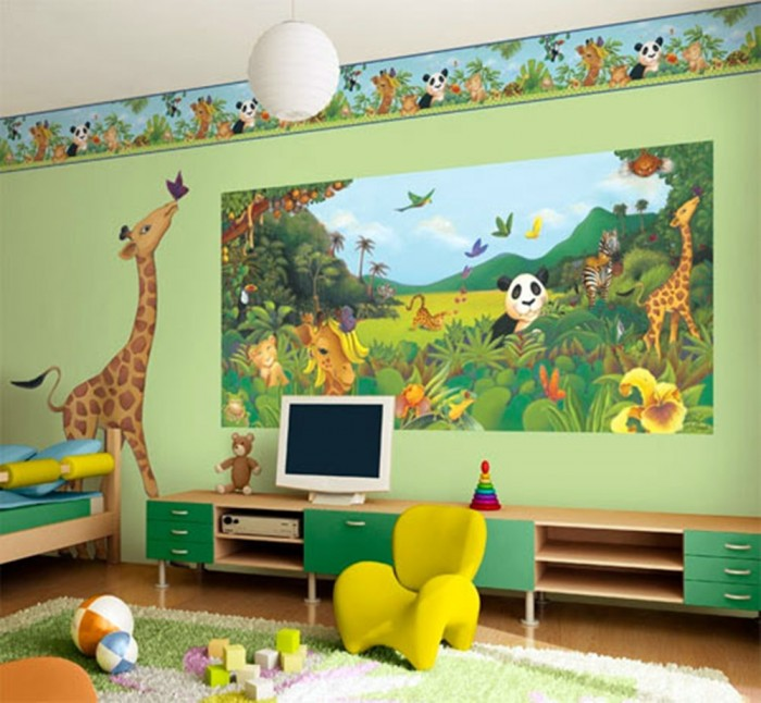 Elephants_wallpapers_409 Create A Colorful Atmosphere In Your Kids Room By Wallpaper