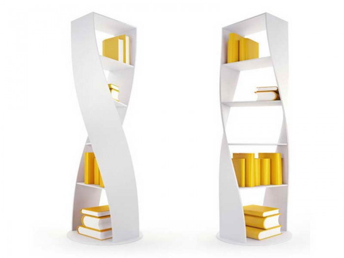 Elfa-Bookshelves-Design-Ideas-with-unique-shape 40 Unusual and Creative Bookcases