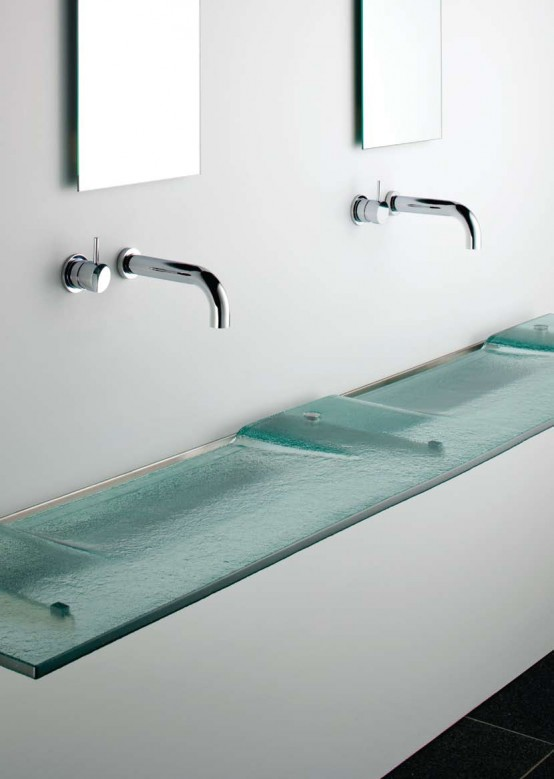 Enchanting-Very-Slim-Glass-Bathroom-Sink-by-Omvivo 40 Catchy and Dazzling Bathroom Sinks