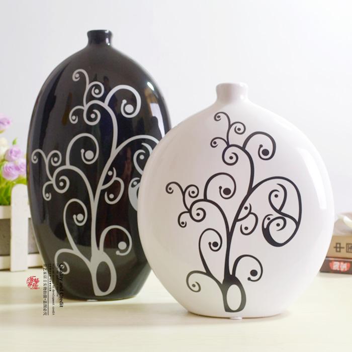 FREESHIPPING-Modern-font-b-designed-b-font-home-decorationceramic-font-b-vase-b-font-2-pieces 35 Designs Of Ceramic Vases For Your Home Decoration