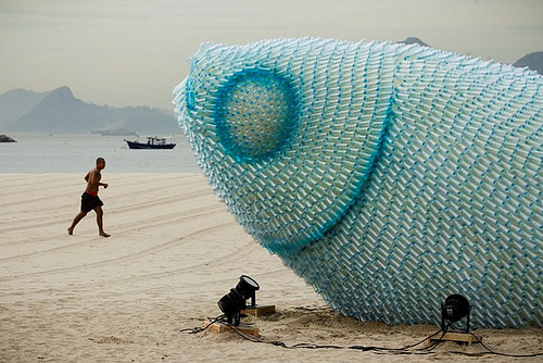 Fish-sculpture 12 Impressive Art Works Made From Recycled Materials