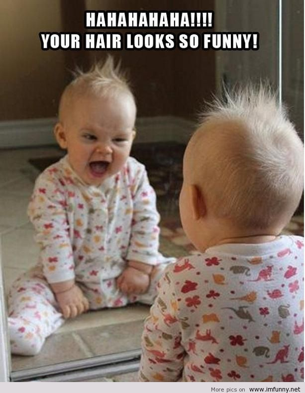 Funny-baby-looks-in-the-mirror Top 16 Funny Kids With Quotes