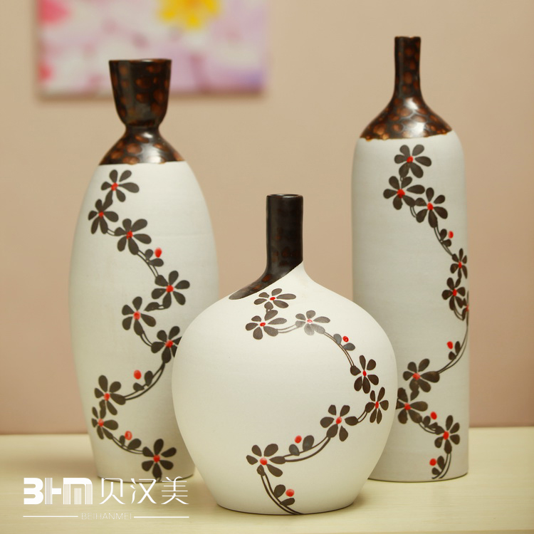 Handmade-font-b-pottery-b-font-piece-set-decoration-crafts-modern-font-b-vase-b-font 35 Designs Of Ceramic Vases For Your Home Decoration