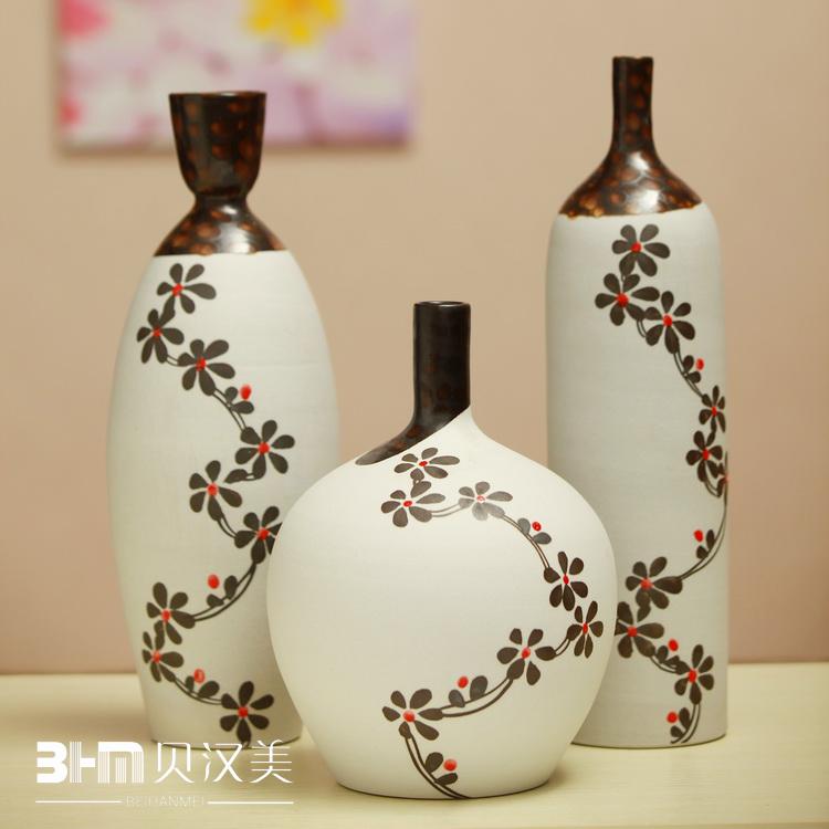 Handmade-font-b-pottery-b-font-piece-set-decoration-crafts-modern-font-b-vase-b-font 35 Designs Of Ceramic Vases For Your Home Decoration