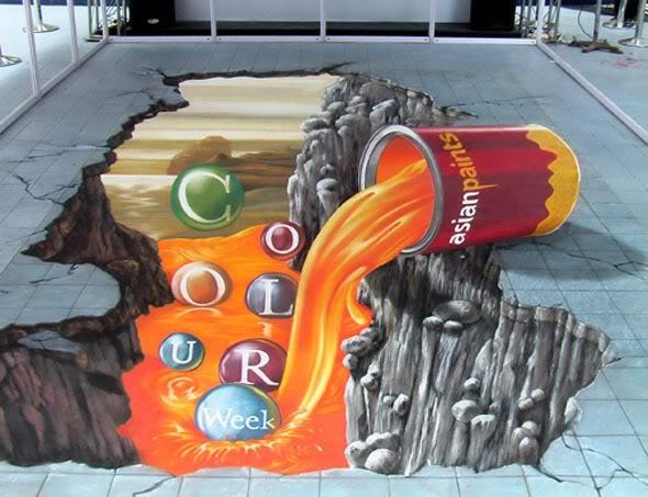 Interesting-3D-Street-Art-Paintings-11 26 Most Stunning 3D Street Art Paintings