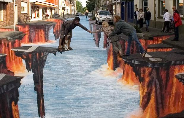 Interesting-3D-Street-Art-Paintings-12 26 Most Stunning 3D Street Art Paintings