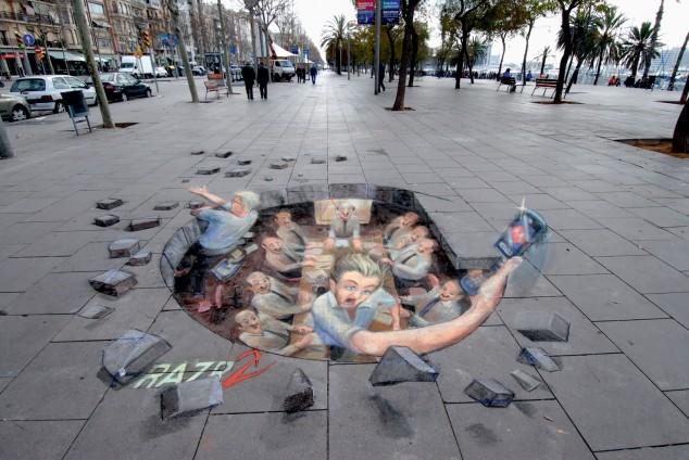 Interesting-3D-Street-Art-Paintings-3-634x424 26 Most Stunning 3D Street Art Paintings