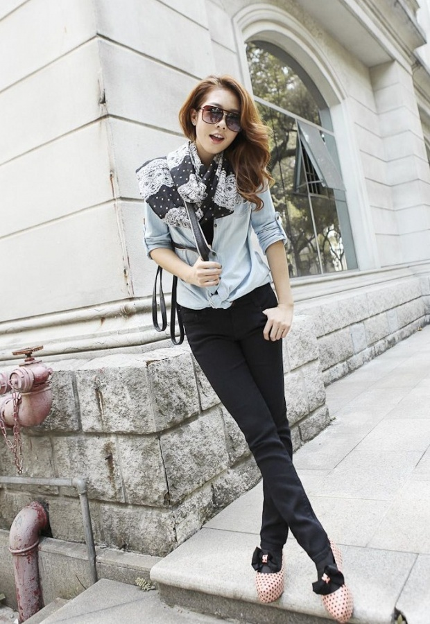Korean-Jeans-Black-For-Girls-2013 Most Stylish +20 Teenage Girls Fashion Trends