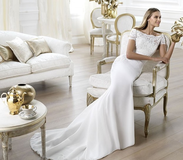 Lambina-Pronovias-wedding-dresses-2014 19 Most Breathtaking Bridal Dresses Ideas For 2020