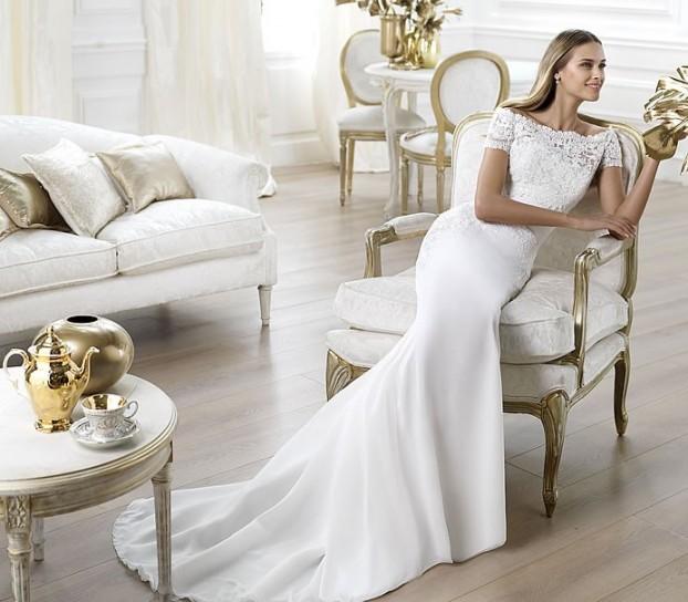 Lambina-Pronovias-wedding-dresses-2014 19 Most Breathtaking Bridal Dresses Ideas For 2019