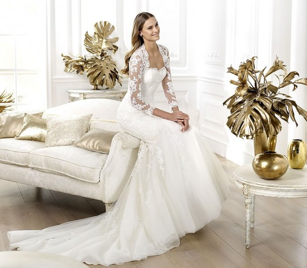 Lanete-Pronovias-wedding-dresses-2014 +25 Most Breathtaking Bridal Dresses Ideas For 2021