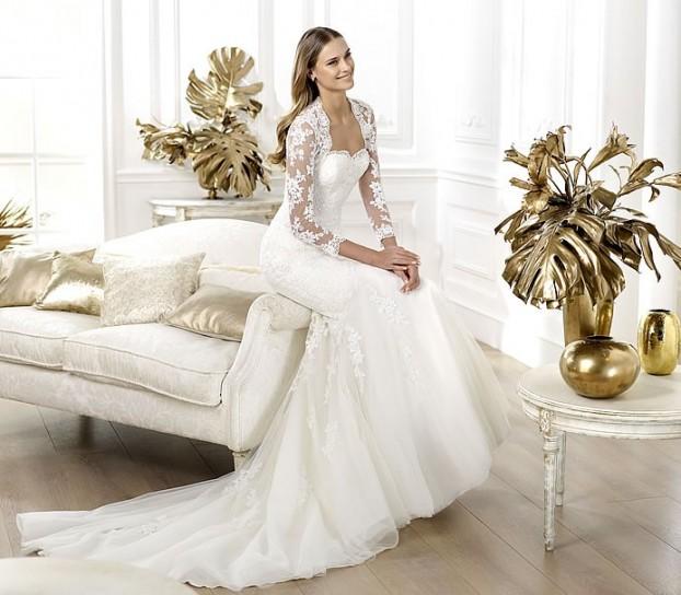 Lanete-Pronovias-wedding-dresses-2014 +25 Most Breathtaking Bridal Dresses Ideas For 2021
