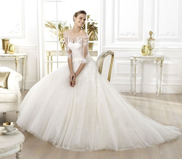 Lavens-Pronovias-wedding-dresses-2014 19 Most Breathtaking Bridal Dresses Ideas For 2020
