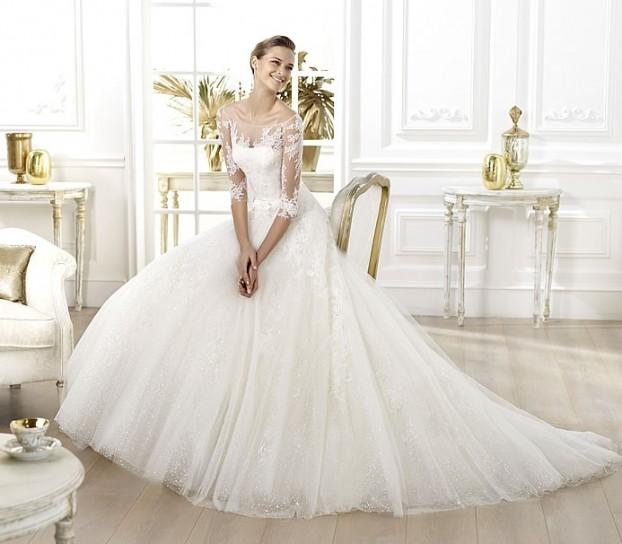 Lavens-Pronovias-wedding-dresses-2014 19 Most Breathtaking Bridal Dresses Ideas For 2019