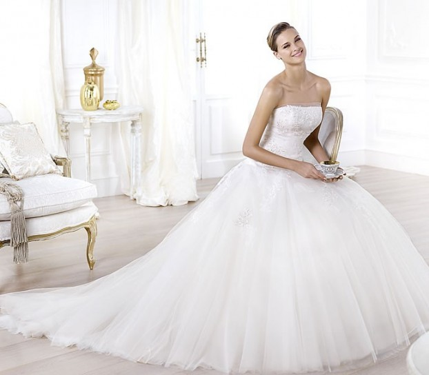 Leonie-Pronovias-wedding-dresses-2014 19 Most Breathtaking Bridal Dresses Ideas For 2020