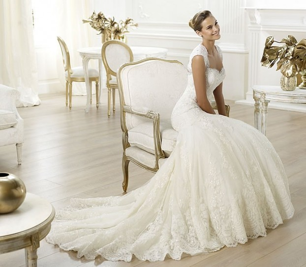 Letha-Pronovias-wedding-dresses-2014 19 Most Breathtaking Bridal Dresses Ideas For 2020