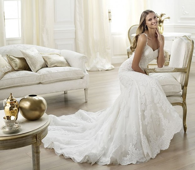Levan-Pronovias-wedding-dresses-2014 19 Most Breathtaking Bridal Dresses Ideas For 2020