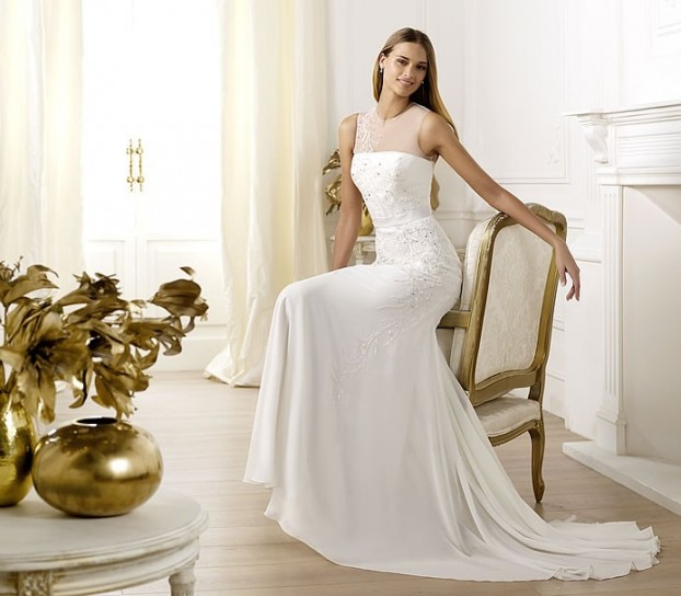 Libusa-Pronovias-wedding-dresses-2014 19 Most Breathtaking Bridal Dresses Ideas For 2019