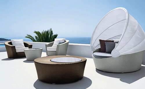Luxury-Patio-Furniture-by-Richard-Frinier 32 Most Interesting Outdoor Furniture Designs